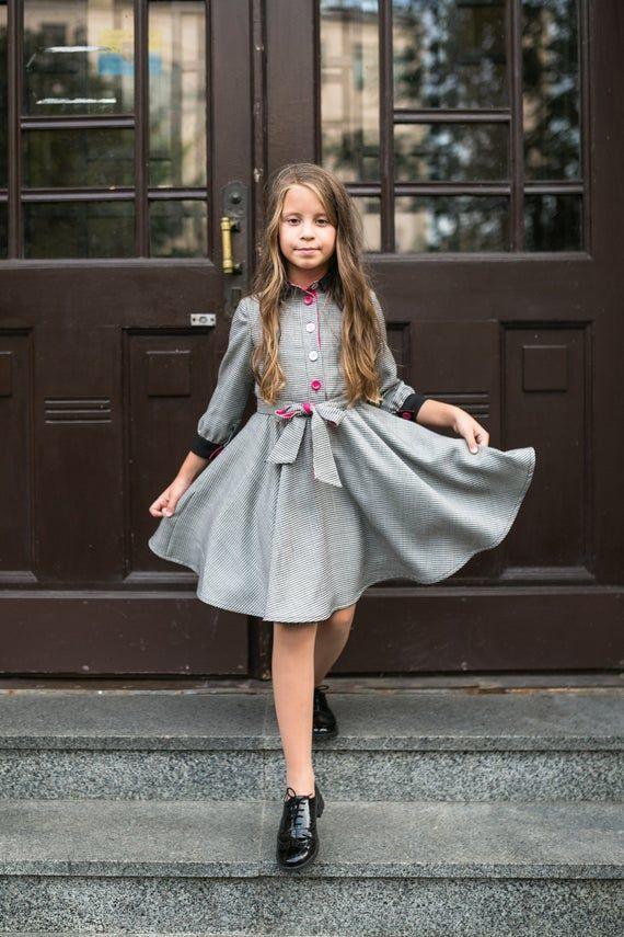 Vestiti Eleganti Per Ragazze Di 12 Anni.Scuola Dress Ragazza Intelligente Per Le Ragazze 6 12 Anni Con