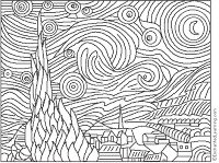 Giochi e colori ! Schede didattiche del Maestro Fabio: Disegni da colorare: QUADRI DI PITTORI FAMOSI (Van Gogh , Picasso, Hokusai, Hiroshige)