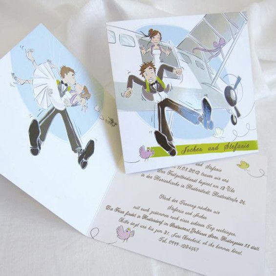 Air Hochzeit Einladungen KP230