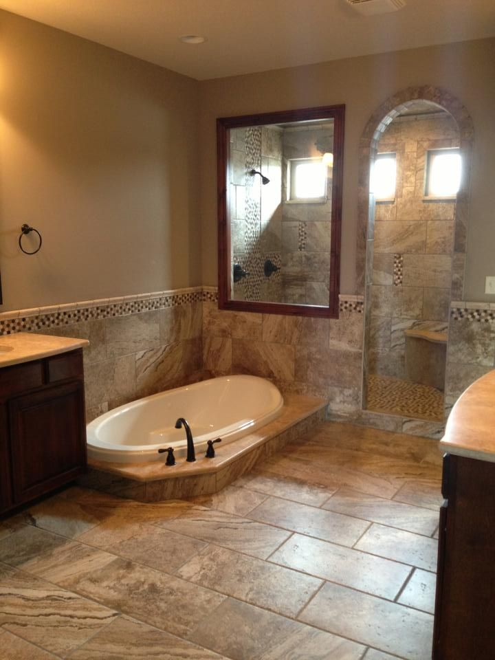 Check Out This Amazing Master Bathroom Sunken Tub Huge