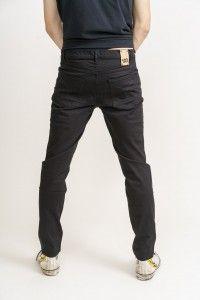 Men's Black Jet Organic Flex Denim Dean Slim Fit Jeans