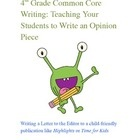 This fabulous opinion writing lesson is based on the Common Core Standards. This lesson plan includes teacher instructions, student instructions, a student sample, and a list of writing topics. $ CCSS Aligned!
