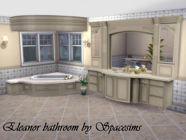 The Sims Resource: Eleanor bathroom by spacesims • Sims 4 Downloads
