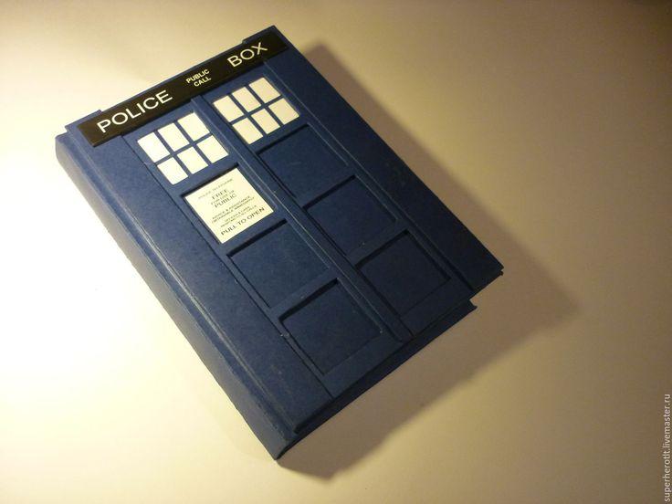 Купить Скетчбук Тардис - синий, ежедневник, скетчбук, ежедневник ручной работы, тардис, доктор кто