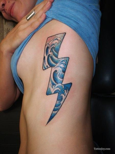 7 best tattoos with clouds in them images on pinterest for Lightning tattoo meaning