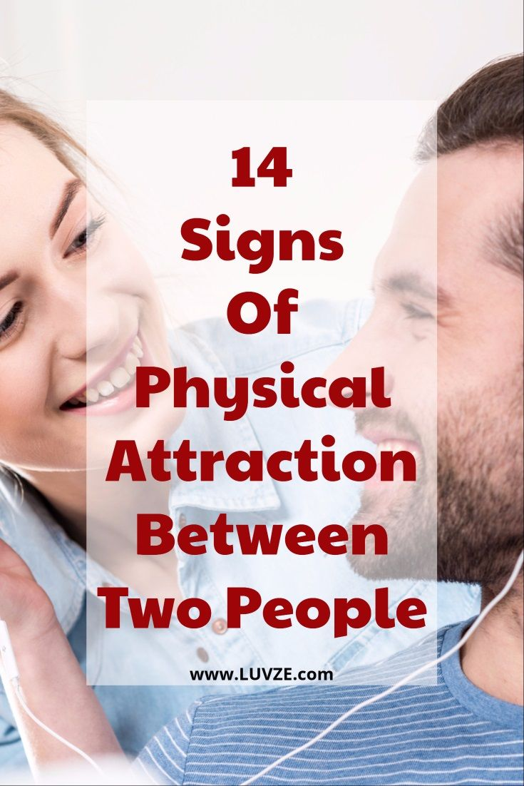 Signs of physical attraction from a man