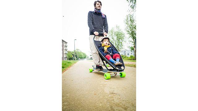 Schön Designer Pram Innovative Combination With Longboard By Quinny Attraktive  Mobel