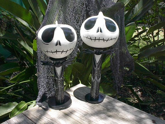 Halloween decor jack skellington gourd by natskreations on - Jack skellington decorations halloween ...