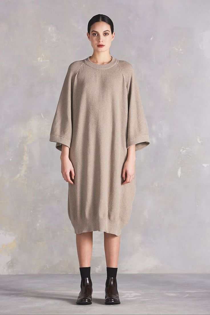 kowtow - Voyage Cape Dress | Oatmeal