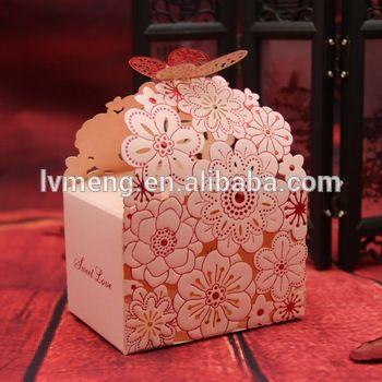 Middle-sized wedding candy box/laser cut wedding favor box/custom made paper gift box