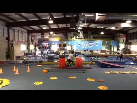 Halloween obstacle course preschool gymnastics lesson plan