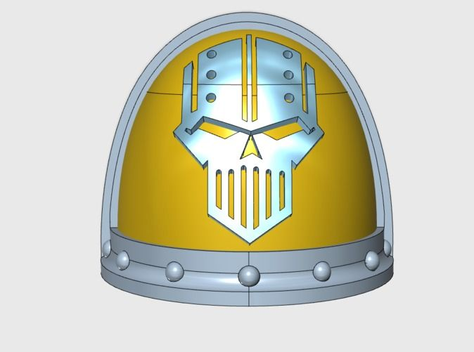 Check out Iron Legion 2 - Gen3:Ferrum Shoulder x10 by matt_sweitzer on Shapeways and discover more 3D printed products in SciFi.