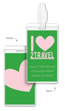love to travel luggage tag $15