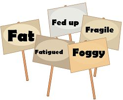 Feeling fat, fatigued, fed up, fragile or foggy. Enrol in our free e-course, 31 Days to Better Body Chemistry. http://www.7bigspoons.com/31-days-body-chemistry/