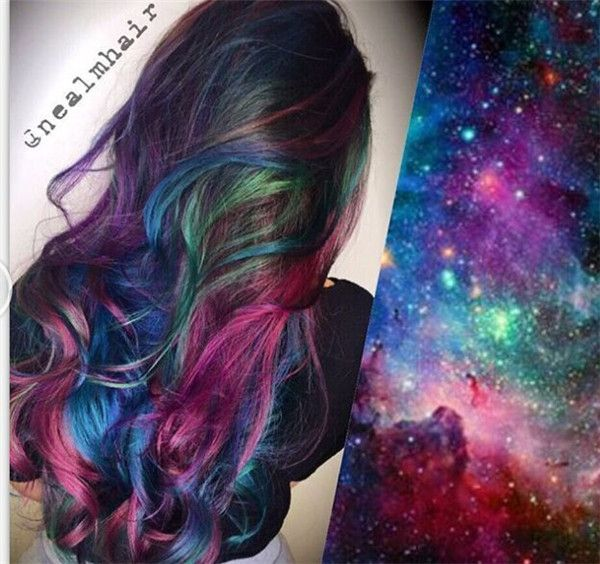 Incredible Galaxy Hair Color idea~ I know i want Galaxy hair right now i am thinking this one is my fav.
