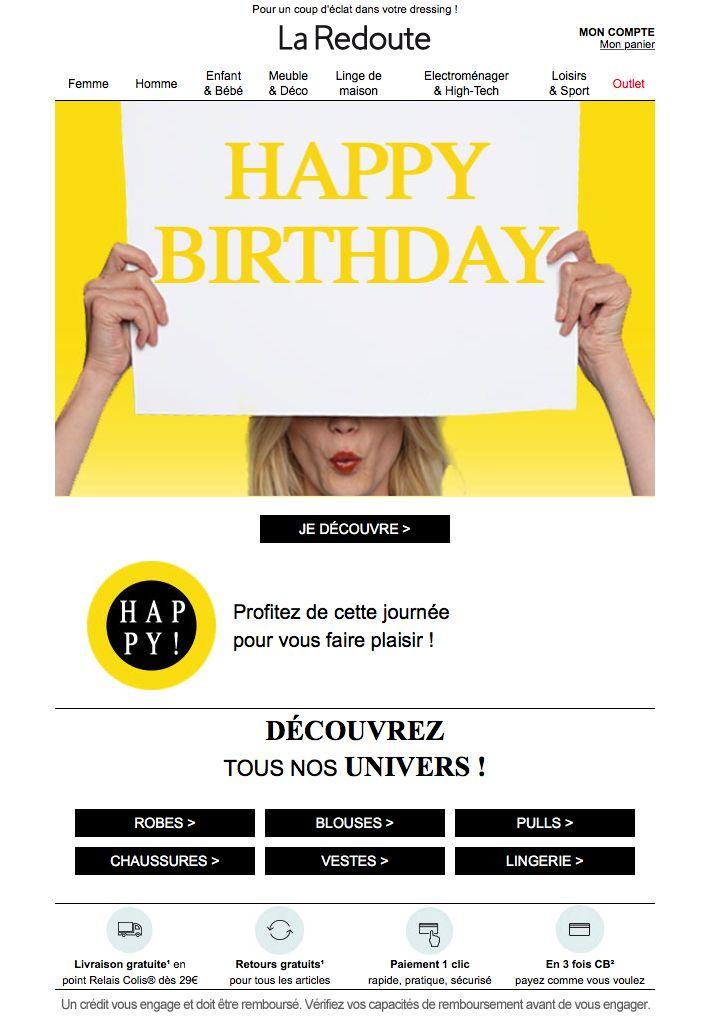 E-mailing anniversaire