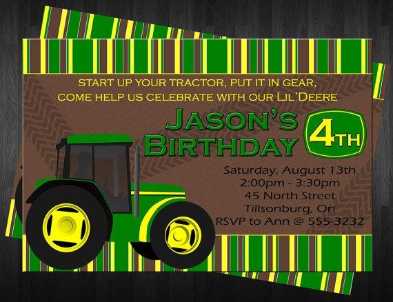 96 best John Deere Party images – John Deere Printable Birthday Invitations