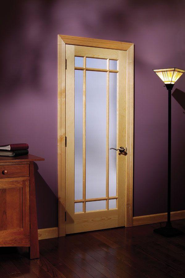 Narrow Lite Door : Ponderosa pine lite prairie design french door with
