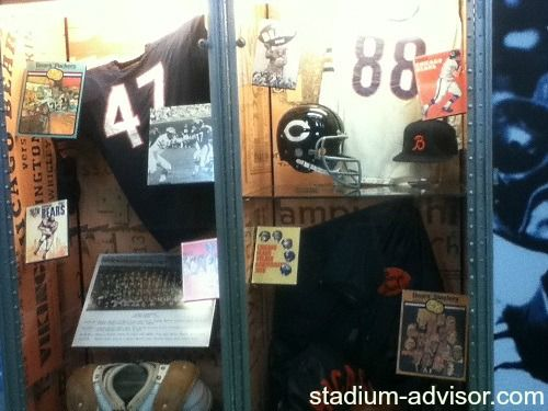 Chicago Bear's history display at Soldier Field. http://www.stadium-advisor.com/chicago-bears-schedule.html