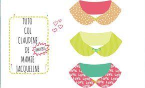 tuto col claudine amovible - Partout A Tiss - Blog de couture & Do It Yourself