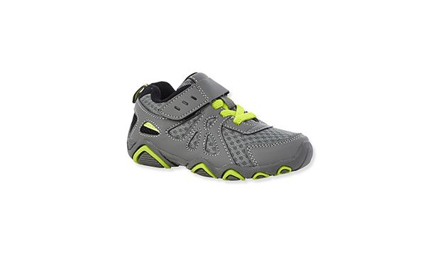 """Grey Mesh Trainer. """"Sports mad little ones will love the neon flash on these cool grey trainers."""""""