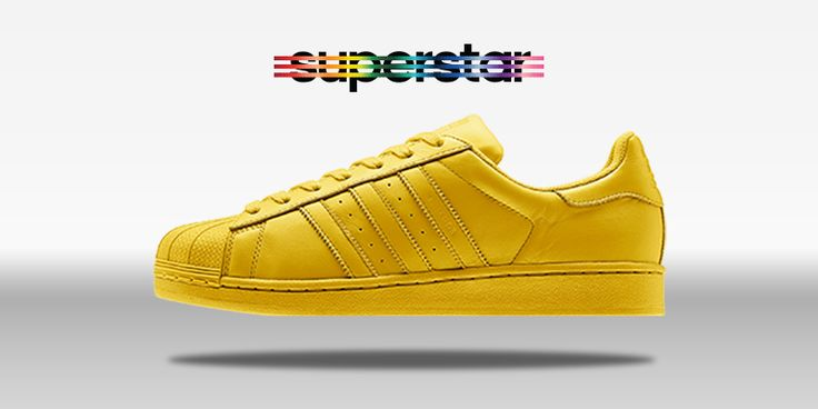 adidas superstar yellow stripe
