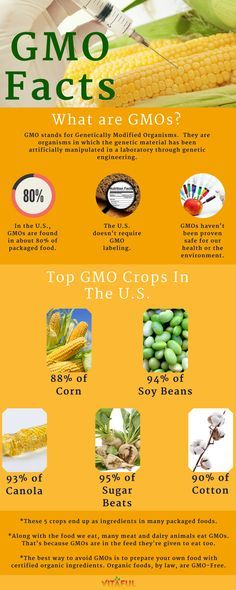 Good basic info! An Overview Of GMOs. Includes a List of Top GMO Crops in the U.S. And How To Avoid Eating GMOs | Food Facts | Go Organic |