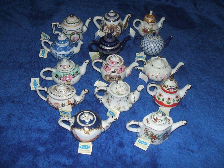 Miniature Collectable Teapot Porcelain Art x14 #vintage #ebay