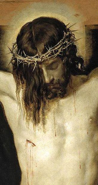 http://pinterest.com/cockadoodledoo/holy-cards-inspirational-images/ Cristo, (detail), Velazquez Amazing.