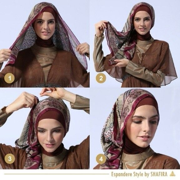 Tutorial Shafira hijab style