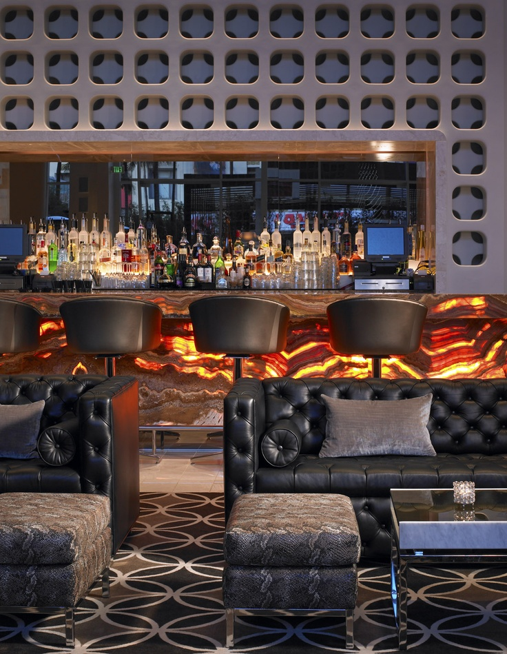 Living Room Bar W Hotel Residence Hollywood