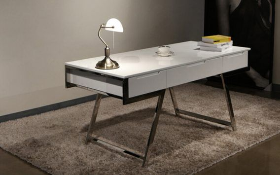 We can't get enough of this chic modern Chicago Writing Desk    Just $569 - elsewhere up to $1490