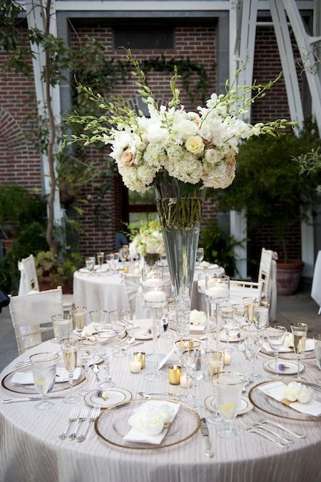 Gorgeous tall floral centerpieces