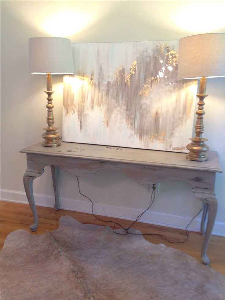 Art Décor: Gray, White, And Gold Abstract Art By Jenn Meador The