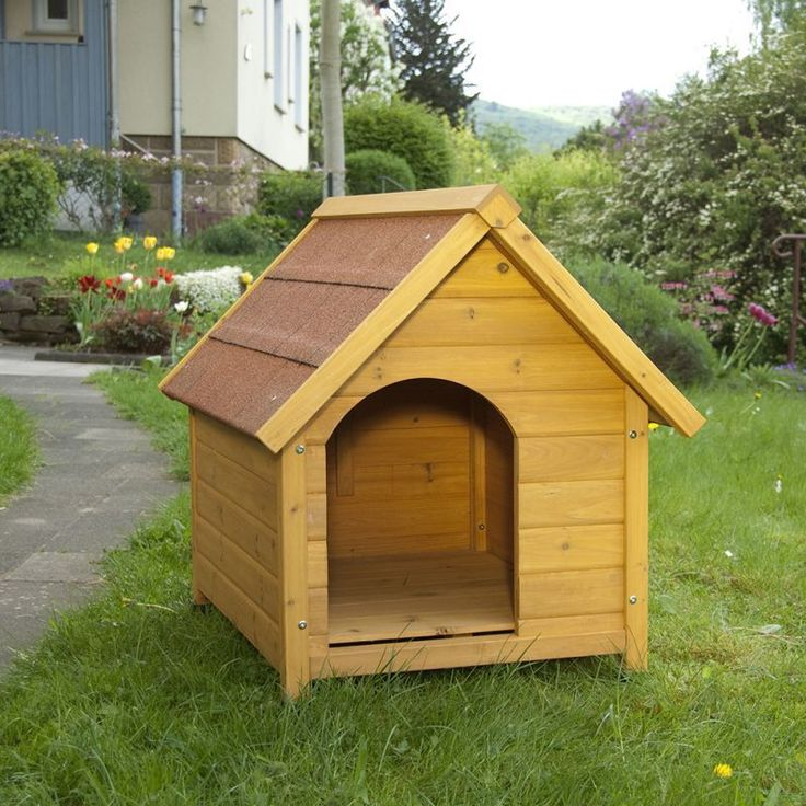 Wooden Dog Kennel Puppy House Garden Balcony Pet Shelter Outdoor Wood Home Uk