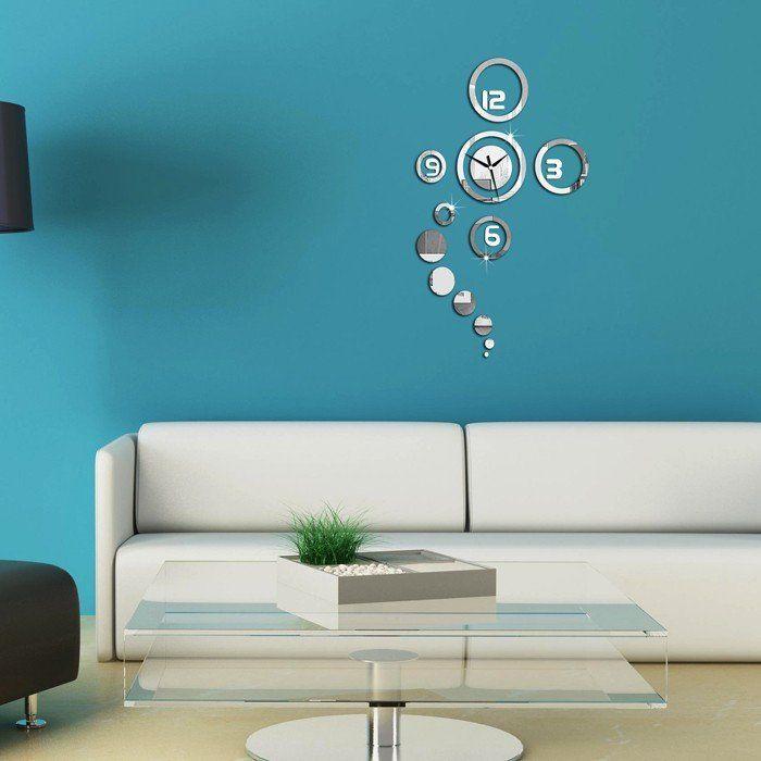 DIY home decoration 3d mirror wall clock sticker modern design wall watch  /relogio de parede/reloj de pared