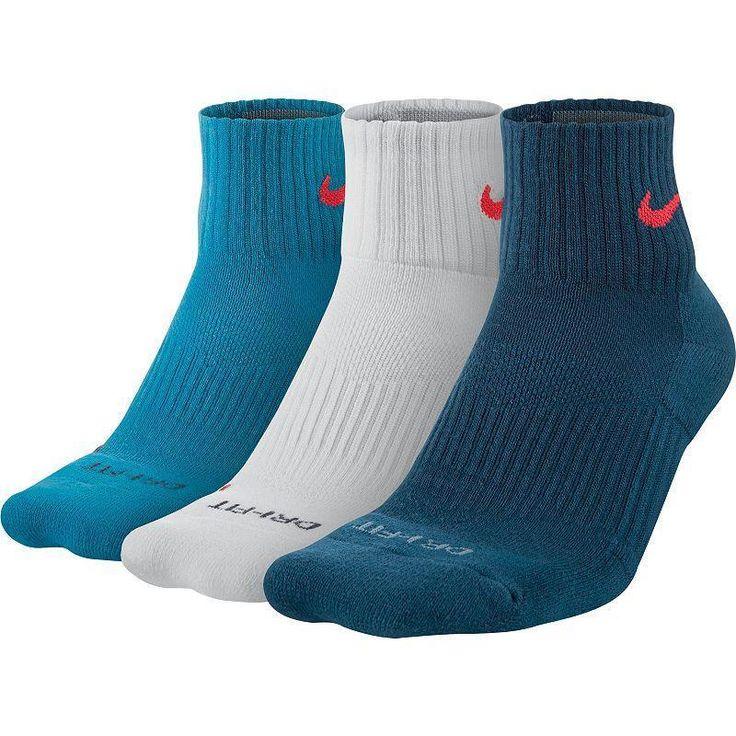 Nike Mens 3-PK DriFit Cotton Cushioned Quarter Socks SZ 12-15 XL SX4835