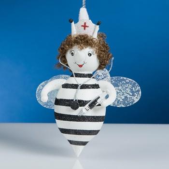 De Carlini Nurse Bee Ornament $36