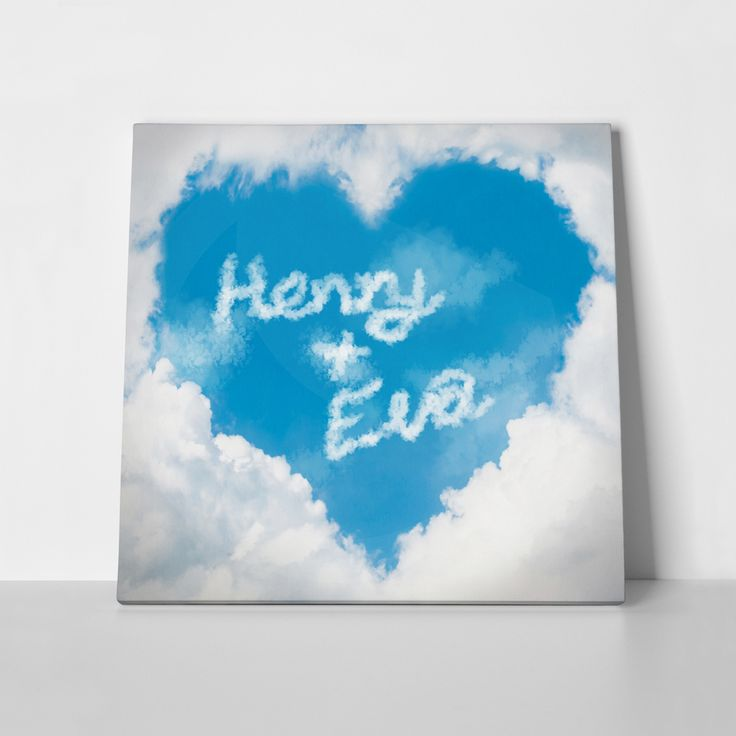 Canvas print LOVE CLOUDS by Sticky!!!