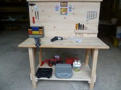 DIY: Werkbank für Kinder // diy tutorial:  Workbench for children via blog.dawanda.com
