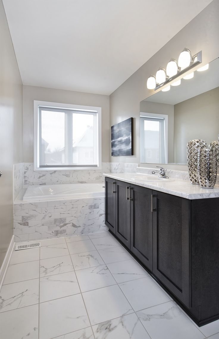 This is the ensuite bathroom in the Diamond townhome model in Ottawa South at our Findlay Creek community.