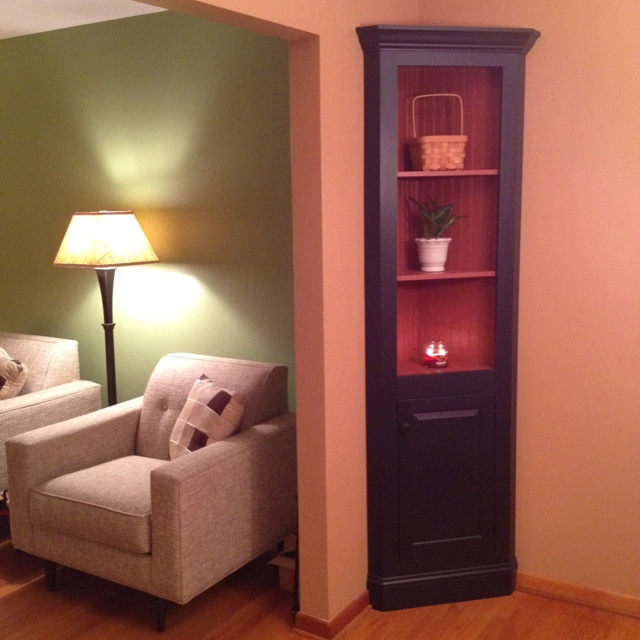 Custom corner cabinet for small dining room custom for Dining room cupboard designs