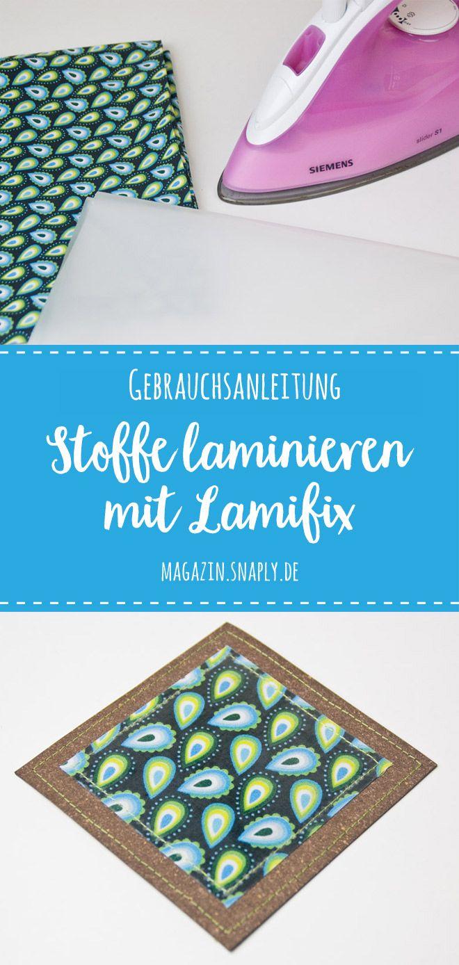 Gebrauchsanleitung: Stoffe laminieren mit Lamifix