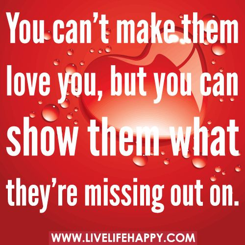You Can't Make Them Love You, But You Can Show Them What They're Missing Out On.