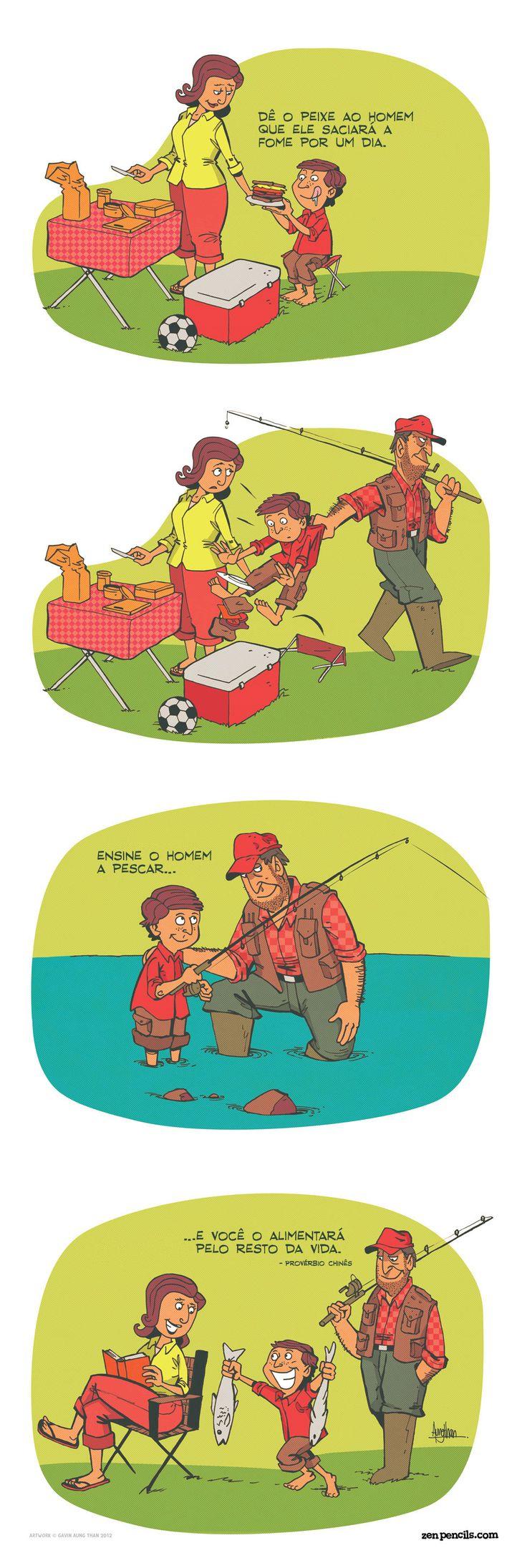 PROVÉRBIO CHINÊS: Dê o peixe ao homem
