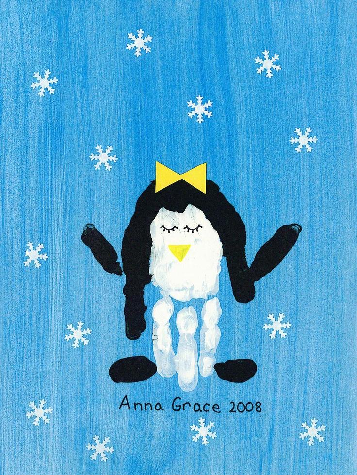 handprint penguin 57 best PreSchool Art for