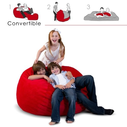 CordRoys Beanbag Chair That Turns Into A Bed Perfect For Camping
