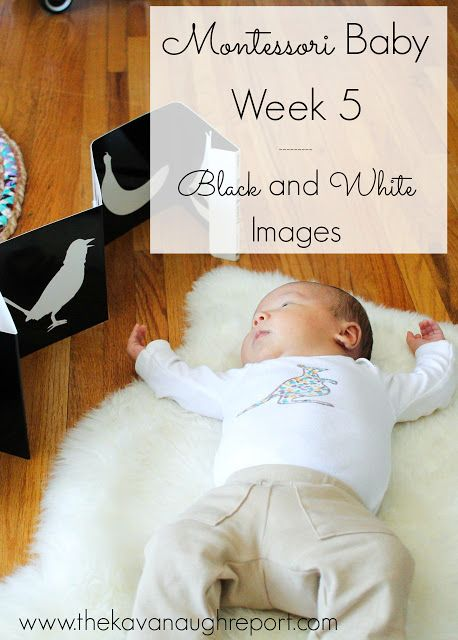 Black and White Images -- Montessori Baby Week 5. Using high contrast images with your baby including an easy DIY
