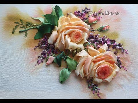 Embroidery master-class Roses lesson 2 Natalia Uritean - YouTube