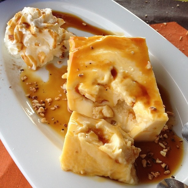 Leche asada con miel de palma, receta tipica de #LaGomera